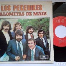 Discos de vinilo: LOS PEKENIKES PALOMITAS DE MAIZ / POLUCION - SINGLE 1972 - ORLADOR. Lote 191487760