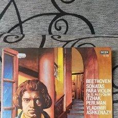 Discos de vinilo: BEETHOVEN - SONATAS PARA VIOLIN OP12 N1 Y OP96 / ITZHAK PERLMAN VLADIMIR ASHKENAZY. Lote 191492818