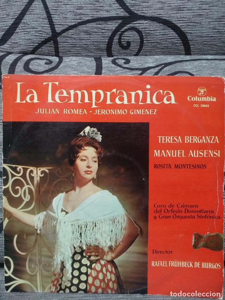 LA TEMPRANICA - JULIAN ROMEA, JERONIMO GIMENEZ (Música - Discos de Vinilo - Maxi Singles - Clásica, Ópera, Zarzuela y Marchas)