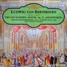 Discos de vinilo: BEETHOVEN* -MIECZYSLAW HORSZOWSKI,SANDOR VÉGH*,PABLO CASALS_–TRIO FOR PIANO, VIOLIN, AND CELLO. Lote 191477297