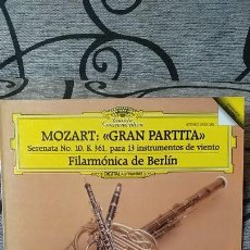 Discos de vinilo: MOZART GRAN PARTITA SERENATA N10 K361 PARA 13 INSTRUMENTOS DE VIENTO - FILARMONICA DE BERLIN. Lote 191492872