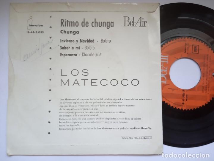 Discos de vinilo: LOS MATECOCO - ritmo de la chunga - EP 1960 - BEL -AIR - Foto 2 - 191495477