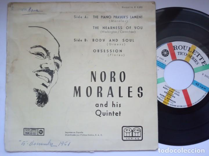 Discos de vinilo: NORO MORALES - body and soul - EP 1960 - ROULETTE - Foto 2 - 191497372