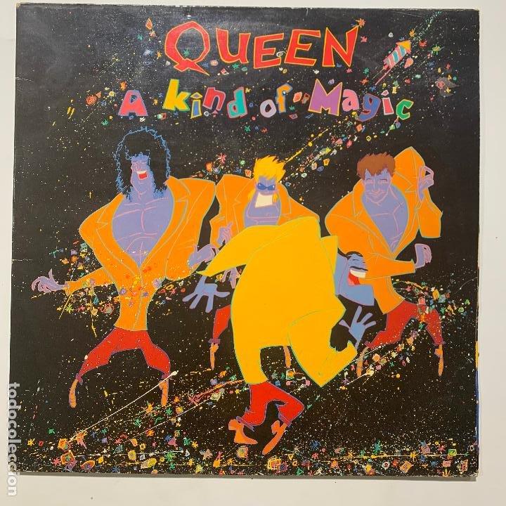 LP GATEFOLD QUEEN A KIND OF MAGIC EDICION ESPAÑOLA DE 1986 (Música - Discos - LP Vinilo - Pop - Rock - New Wave Extranjero de los 80)
