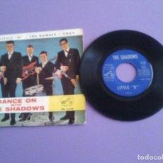 Discos de vinilo: EP. THE SHADOWS-LITTLE B/THE RUMBLE/COSY. AÑO 1963 LA VOZ DE SU AMO 7EPL 14.000.SPAIN.. Lote 191500648