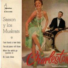 Discos de vinilo: SASSON Y LOS MUSKRATS - CHARLESTON - EP SPAIN 1960 . Lote 191501717