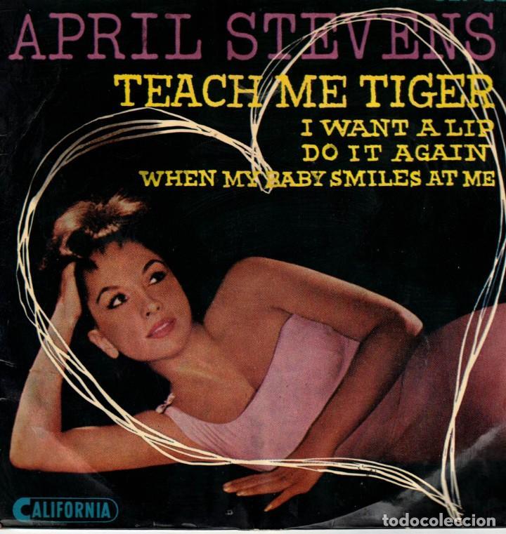 APRIL STEVENS - TEACH ME TIGER - DO IT AGAIN + 2 - EP SUECIA (Música - Discos de Vinilo - EPs - Pop - Rock Internacional de los 50 y 60)