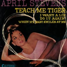 Discos de vinil: APRIL STEVENS - TEACH ME TIGER - DO IT AGAIN + 2 - EP SUECIA. Lote 191503293