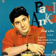 Discos de vinilo: PAUL ANKA - ES MEJOR + 3 - EP SPAIN 1960 . Lote 191503727