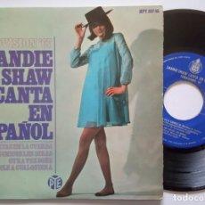 Discos de vinilo: SANDIE SHAW - MARIONETAS EN LA CUERDA (CANTA EN ESPAÑOL) - EP 1967 - HISPAVOX - EUROVISION. Lote 191504266