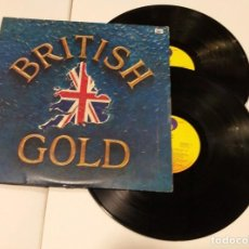 Discos de vinilo: BRITISH GOLD DOBLE LP 1978 BEATLES HOLLIES, TROGGS. Lote 191504342