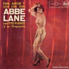 Discos de vinilo: ABBE LANE - PAN, AMOR Y CHA CHA CHA . Lote 191507338