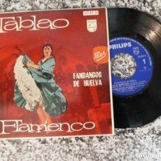 Discos de vinilo: TABLAO FLAMENCO.FANDANGOS DE HUELVA.1962.. Lote 191516702