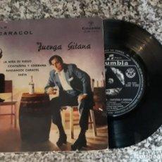 Discos de vinilo: MANOLO CARACOL.JUERGA GITANA.1960. Lote 191517020