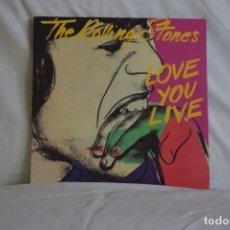 Discos de vinilo: ROLLING STONES-LOVE YOU LIVE. Lote 191521317