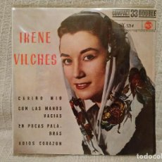 Discos de vinilo: IRENE VILCHES - CARIÑO MIO + 3 - EP SELLO RCA AÑO 1961 COMPACT 33 DOUBLE - CENTRO SÓLIDO COMO NUEVO. Lote 191531278