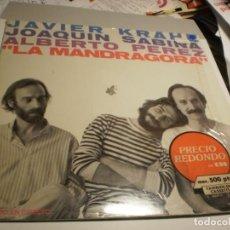 Discos de vinilo: LP LA MANDRÁGORA. J. KRAHE, J. SABINA A. PÉREZ CBS 1981 SPAIN CON ENCARTE ORIGINAL (PROBADO Y BIEN). Lote 191536972