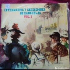 Discos de vinilo: DISCO VINILO INTERMEDIOS Y SELECCIONES DE ZARZUELAS BANDA ACADEMIA GENERAL MILITAR PEDRO RAVENTOS. Lote 191537117