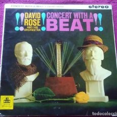 Discos de vinilo: LP VINILO MÚSICA DAVID ROSE CONCERT WITH A BEAT MGM. Lote 191537476