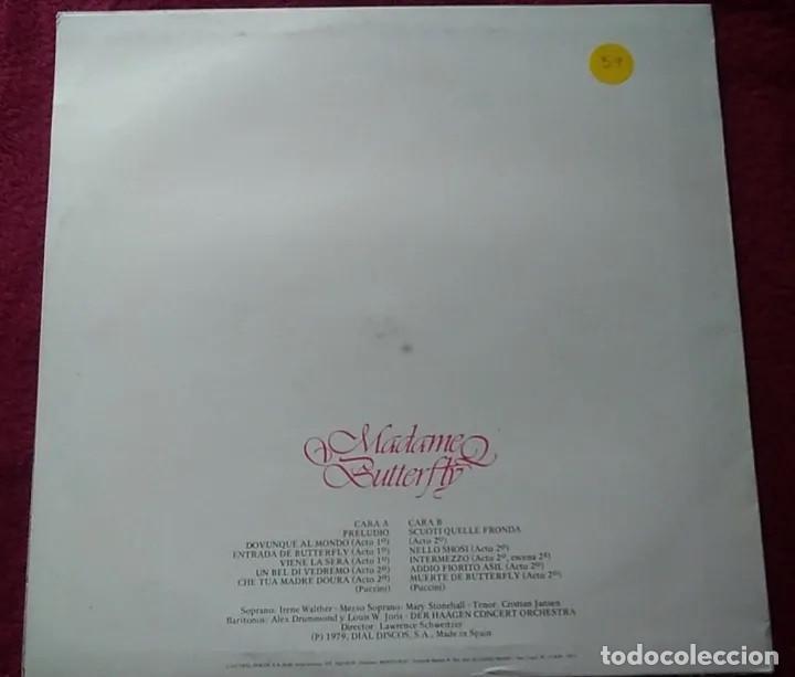 Discos de vinilo: Lp disco vinilo puccini madame butterfly año 1979 - Foto 3 - 191538288