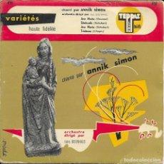 Discos de vinilo: ANNIK SIMON AVE MARIA TEPPAZ. Lote 191549505
