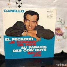 Discos de vinilo: CAMILLO - EL PECADOR + 3 EP 7' SPAIN 1963 LA VOZ DE SU AMO 7EPL 13.967 NM/NM. Lote 191551670