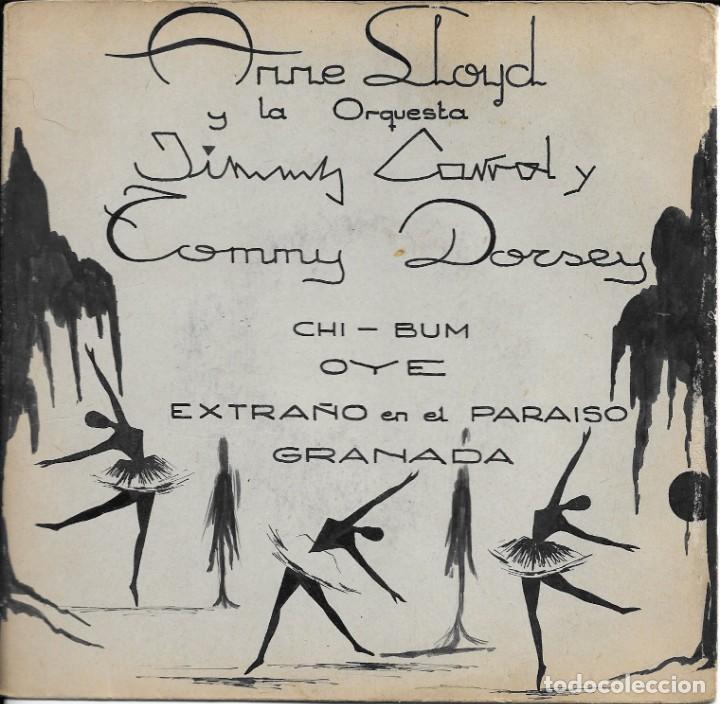 ANNE LLOYD Y ORQUESTAS JIMMY CARROL Y TOMMY DORSEY CHI BUM BELTER (Música - Discos de Vinilo - EPs - Orquestas)