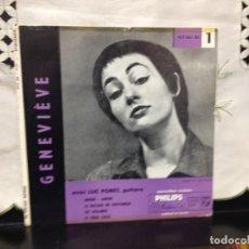 Discos de vinilo: GENEVIÉVE AVEC LUC PORET, GUITARE - AMOUR AMOUR +3 EP 7' VINYL 429.063 BE FRANCE. Lote 191554135