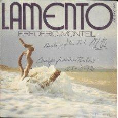 Discos de vinilo: FREDERIC MONTEIL LAMENTO BARCLAY 1972. Lote 191554385