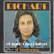 Discos de vinilo: RICHART EL PATO CHOCOLATERO ZAFIRO 1974. Lote 191556130