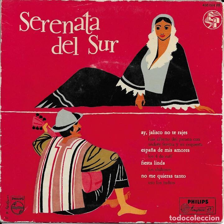 SERENATA DEL SUR VARIOS ARTISTAS PHILIPS 1958 (Música - Discos de Vinilo - EPs - Grupos y Solistas de latinoamérica)