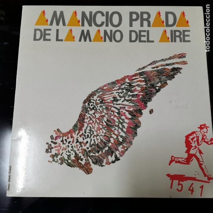 AMANCIO PRADA - DE LA MANO DEL AIRE (FONOMUSIC 1984) (Música - Discos - LP Vinilo - Cantautores Extranjeros)