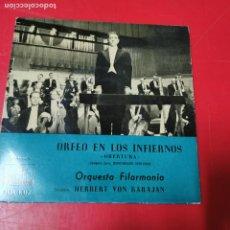 Discos de vinilo: ORFEO EN LOS INFIERNOS KARAJAN 7ERL 1.217 LA VOZ DE TU AMO RARO. Lote 191571346