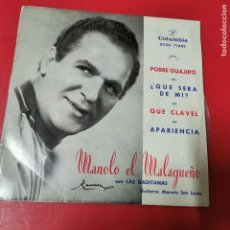 Discos de vinilo: MANOLO EL MALAGUEÑO CON LAS GADITANAS COLUMBIA ECGE 71809 AÑO 1963. Lote 191572123