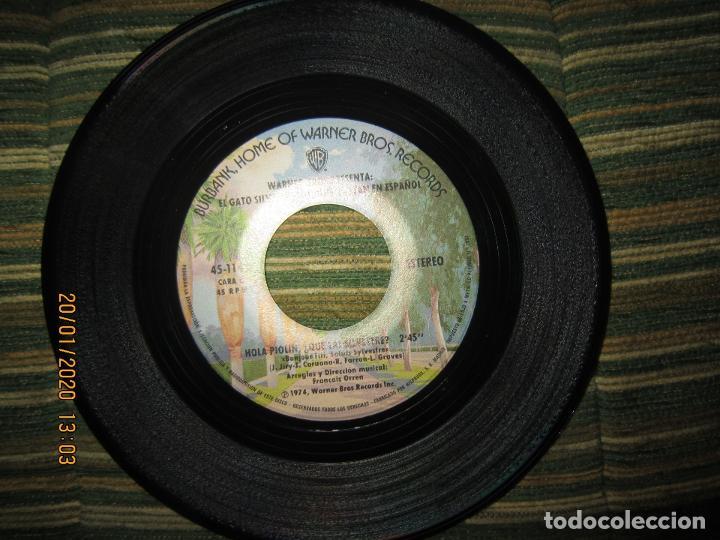 Discos de vinilo: EL GATO SILVESTRE Y PIOLIN - PIOLIN EN LA NIEVE SINGLE ORIGINAL ESPAÑOL - WARNER 1974 - STEREO - - Foto 4 - 191596832