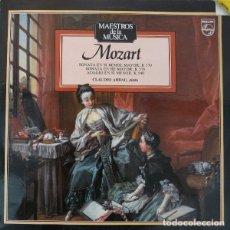 Discos de vinilo: MOZART* -CLAUDIO ARRAU_–SONATA EN SI BEMOL MAYOR, K. 570 - SONATA EN RE MAYOR, K. 576 - ADAGIO EN. Lote 191604021