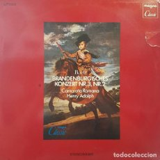 Discos de vinilo: BACH* –CAMERATA ROMANA,HENRY ADOLPH_–BRANDENBURGISCHES KONZERT NR. 3, NR. 2. Lote 191604176