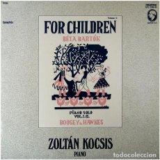 Discos de vinilo: BÉLA BARTÓK/ZOLTÁN KOCSIS_–FOR CHILDREN. Lote 191604183
