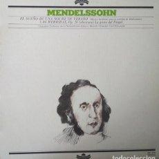 Discos de vinilo: MENDELSSOHN* :CARL SCHURICHT,ORQUESTA SINFÓNICA DE LA RADIODIFUSIÓN BAVARA*_–EL SUEÑO DE UNA NOC. Lote 191604186