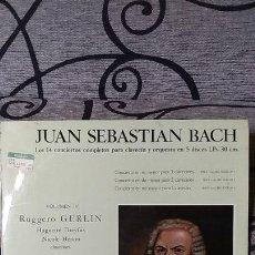 Discos de vinilo: JUAN SEBASTIAN BACH - LOS 14 CONCIERTOS COMPLETOS PARA CLAVECIN VOL IV. Lote 191604200
