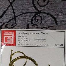 Discos de vinilo: WOLFGANG AMADEUS MOZART_–HORNKONZERTE. Lote 191604201