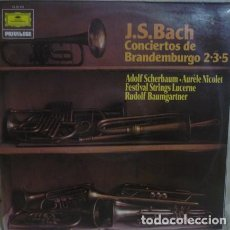 Discos de vinilo: J.S. BACH* -ADOLF SCHERBAUM-AURÈLE NICOLET-FESTIVAL STRINGS LUCERNE-RUDOLF BAUMGARTNER_–CON. Lote 191604206