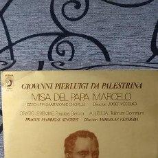 Discos de vinilo: GIOVANNI PIERLUIGI DA PALESTRINA - MISA DEL PAPA MARCELO. Lote 191604212