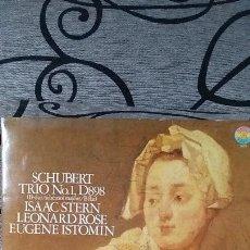 Discos de vinilo: SCHUBERT TRIO Nº1 D898 / ISAAC STERN LEONARD ROSE EUGENE ISTOMIN. Lote 191604221