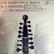 Discos de vinilo: J. S. BACH*,PH. E. BACH*,G. F. HAENDEL*_–SONATAS. Lote 191604223