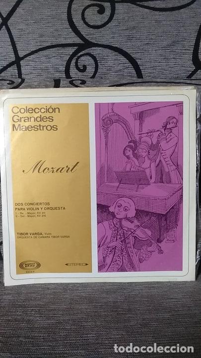 MOZART - DOS CONCIERTOS PARA VIOLIN Y ORQUESTAS RE MAYOR KV 211 / SOL MAYOR KV 216 (Música - Discos de Vinilo - Maxi Singles - Clásica, Ópera, Zarzuela y Marchas)