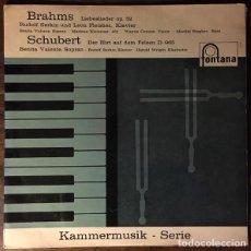 Discos de vinilo: BRAHMS* /SCHUBERT*_–LIEBESLIEDER OP. 52 / DER HIRT AUF DEM FELSEN D. 965. Lote 191604258
