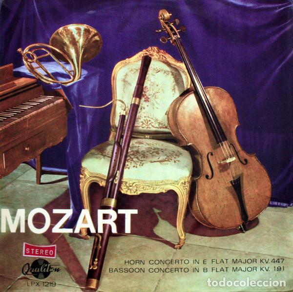 MOZART*_–HORN CONCERTO IN E FLAT MAJOR KV. 447 / BASSOON CONCERTO IN B FLAT MAJOR KV. 191 (Música - Discos de Vinilo - Maxi Singles - Clásica, Ópera, Zarzuela y Marchas)