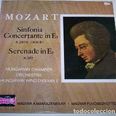 Discos de vinilo: MOZART*,HUNGARIAN CHAMBER ORCHESTRA,HUNGARIAN WIND ENSEMBLE_–SINFONIA CONCERTANTE IN ESZ-DUR K.29. Lote 191604297