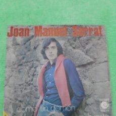 Discos de vinilo: JOAN MANUEL SERRAT. COMONUN GORRION. SI LA MUERTE PISA MI HUERTO. NOVOLA.. Lote 191612140